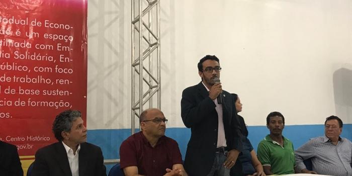 Presidente do Corecon-MA participa da inauguração do Centro de Economia Solidária