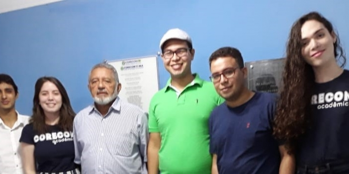 Presidente do Corecon/MA e estudantes do Corecon Acadêmico alinham estratégias de atuação