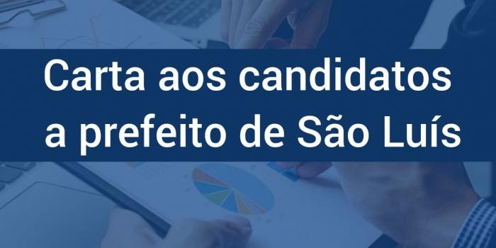 O Corecon-MA envia carta para os candidatos a prefeito de São Luís